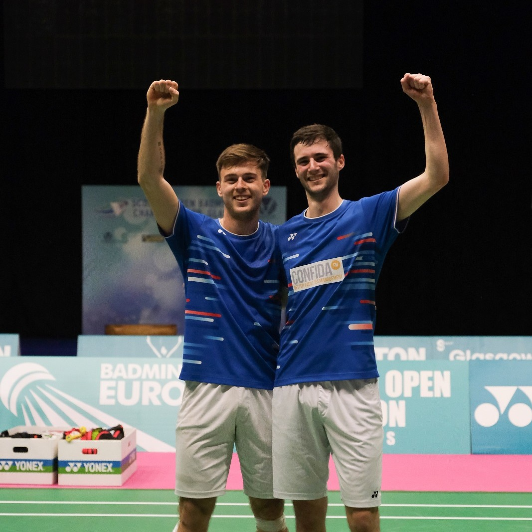 Dunn (left) and Hall (right) made history at the Emirates Arena in Glasgow.