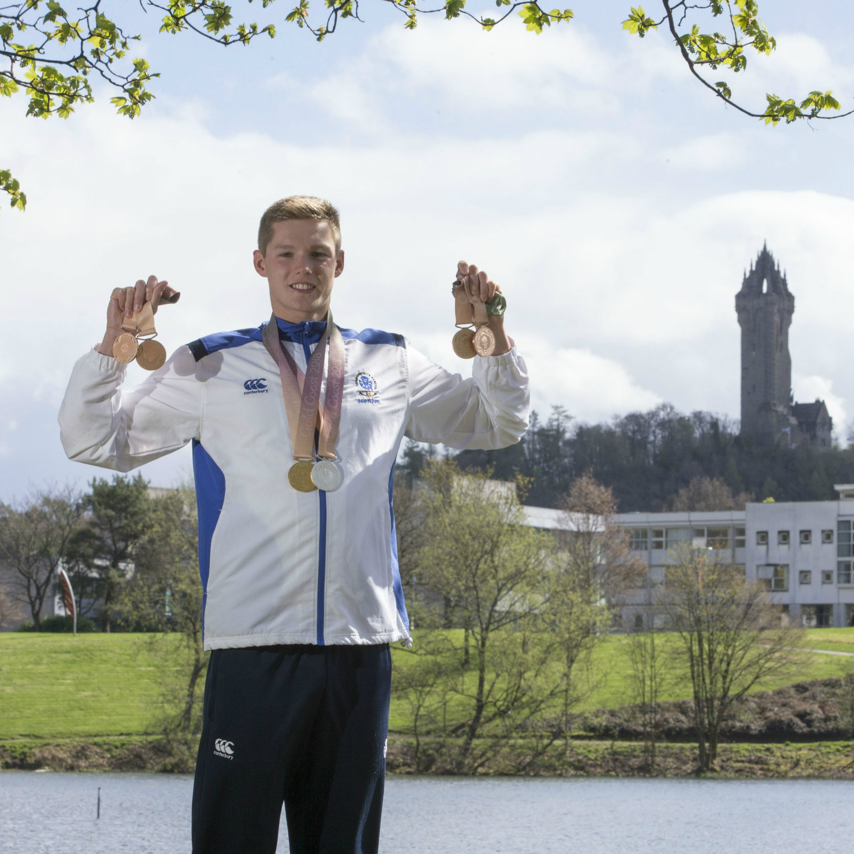 University of Stirling swimmer, Duncan Scott, brought home six medals from the G